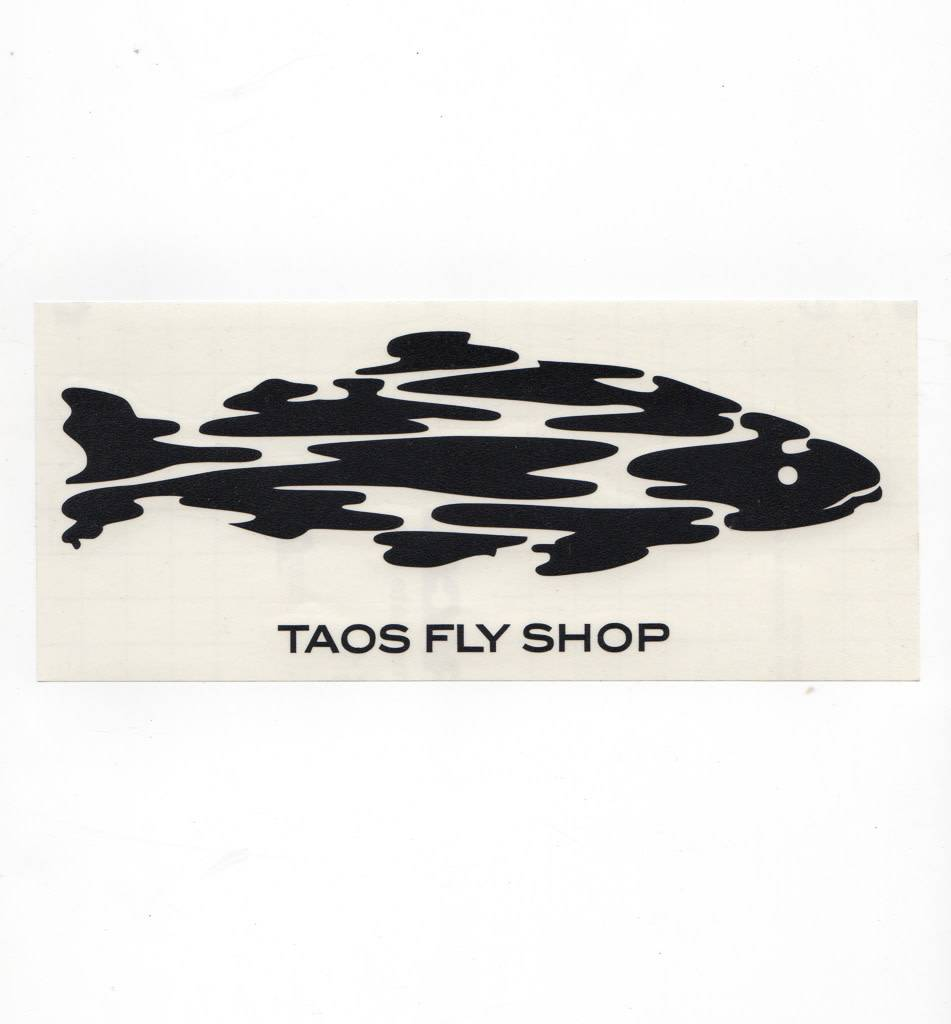 Taos Fly Shop Decal Sticker Black
