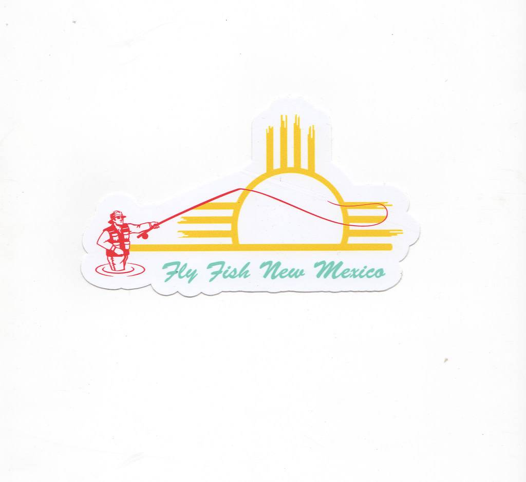 Taos Fly Shop Fly Fish New Mexico Sticker