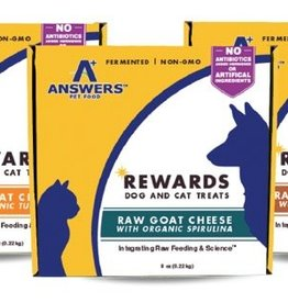 Answers Answers Raw Goat Cheese treat 8oz