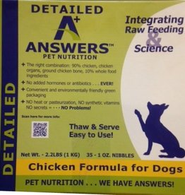 Answers Answers Detailed chicken dog food