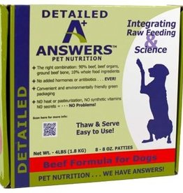 Answers Answers Detailed beef dog food