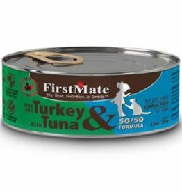 First Mate FirstMate GF LID Turkey/Tuna Cat Food Can 5.5oz