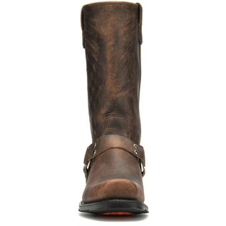 "Double H Men's 12"" Domestic Harness Boot Tan Crazyhorse 4004"