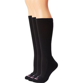 Dan Post Womens Socks Over Calf 7-9.5 Black