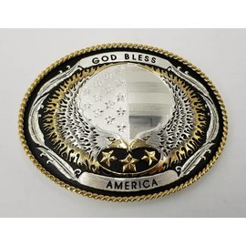 Montana Silversmiths Silver with God Bless America