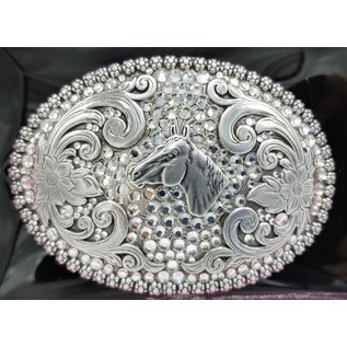 Horse Head and Rhinestones Buckle 37536