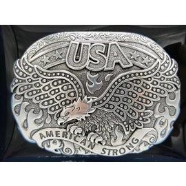 America Strong Soraring Eagle Belt Buckle 37122