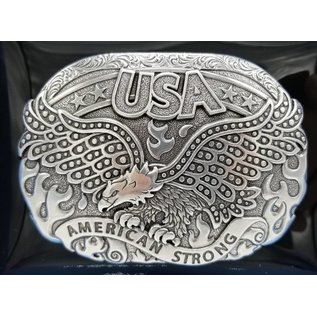 America Strong Soraring Eagle Belt Buckle 37122
