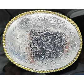 Gold and Silver Filigree Buckle 37220