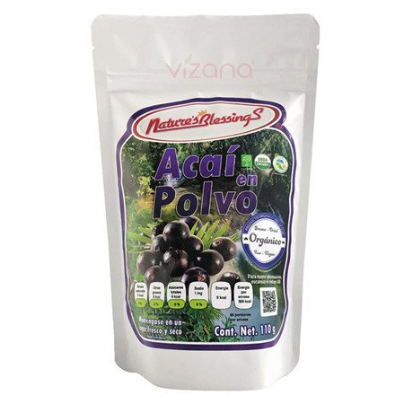 Acai Berry organico en polvo Nature s Blessings 110g