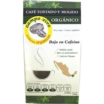 Café Tostado y Molido Bajo en Cafeína Campo Vivo 250 gr.