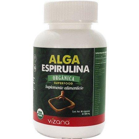 Alga Espirulina en Cápsulas Orgánicas Vizana 90-500 mg.
