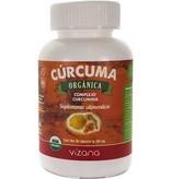 Cúrcuma Orgánica en Capsulas, Complejo Curcumina Vizana 60-500 mg