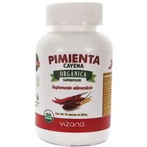 Pimienta Cayena en Cápsulas Orgánicas Vizana 90-500 mg.