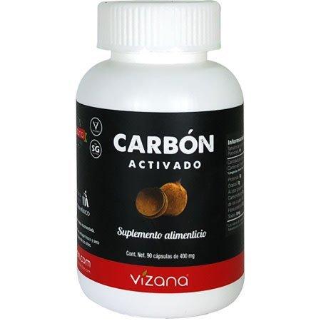 Carbón Activado en Cápsulas Vizana 90-400 mg.