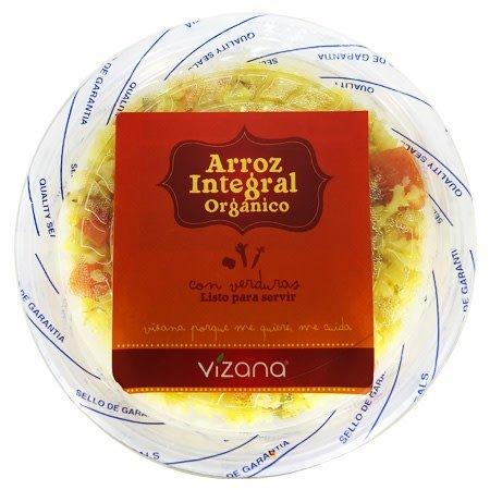 Arroz Integral Preparado con Verduras Vizana 325 gr.