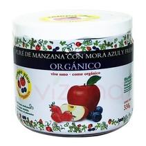 Pure de manzana, Mora Azul y Fresa; Campo Vivo 340 gr.