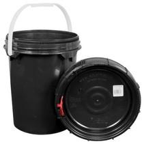 Harvest Keeper Spin Lock 5 Gal Black Bucket w/ Lid