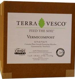 TerraVesco Terra Vesco Vermicompost, 1 cu. ft. (boxed)