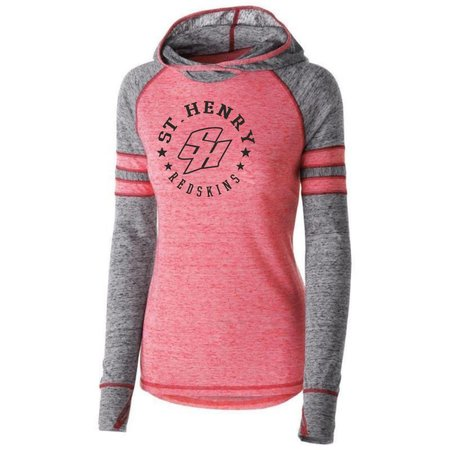 Holloway. H200 - Ladies Advocate Hoodie - Scarlet/Black