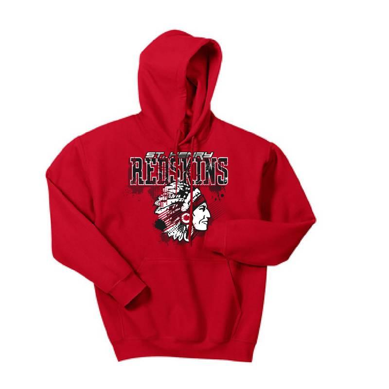 Gildan H207 - Hooded Sweatshirt - Red