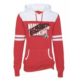 W184 Enza Ladies Varsity Fleece Hood - Heather Red