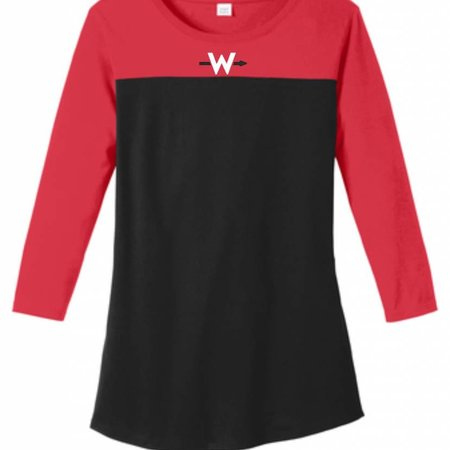District Made W314 - DT2700 Womens 3/4-Sleeve Tee -
