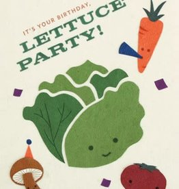 "Birthday Card - ""It's Your Birthday, Lettuce Party!"""
