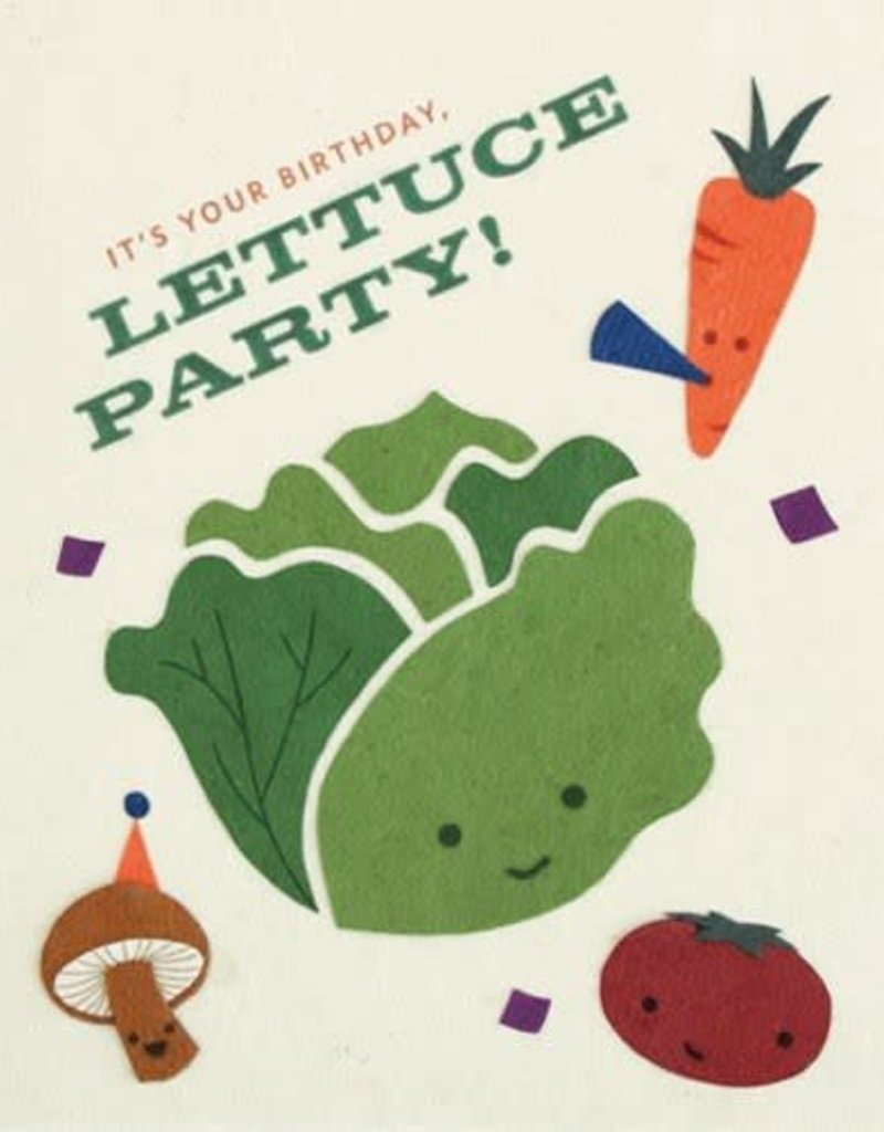 """Birthday Card - """"It's Your Birthday, Lettuce Party!"""""""