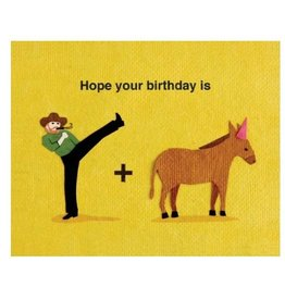 Birthday Card - Kickin' Birthday