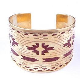 XX Inlaid Leather Cuff