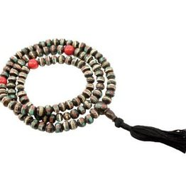 Dark Bone Inlay Mala