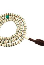 White Bone Inlaid Mala