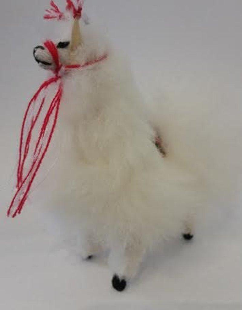 Fluffy Llama Figurine