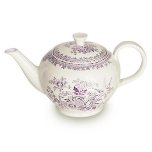 Burleigh Pottery Asiatic Pheasants Plum 7 Cup Teapot