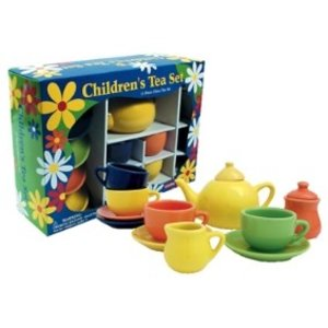 Schylling Schylling Four-Color Porcelain Children's Tea Set
