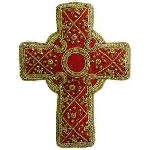St. Nicolas St. Nicolas Mini Red Celtic Cross Ornament