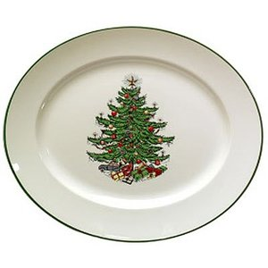 Cuthbertson Christmas Tree Oval Platter, Large