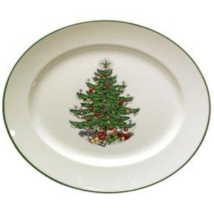 Cuthbertson Christmas Tree Oval Platter, Medium
