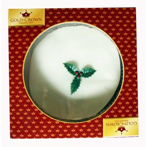 Gold Crown Gold Crown Top Iced Boxed Christmas Cake