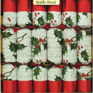 Robin Reed Robin Reed Bows and Berries Christmas Crackers 10'' - 12 Count