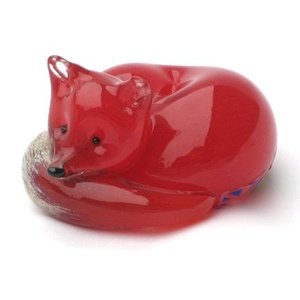 Langham Glass Langham Glass Red Fox at Rest - Small