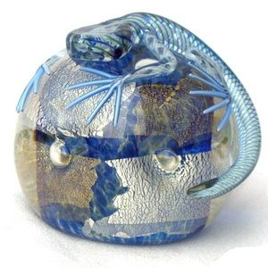 Twists Glass Studio Twists Glass Studio Lizard Paperweight