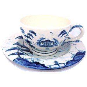 Isis Ceramics Isis Blue Palladian Teacup and Saucer