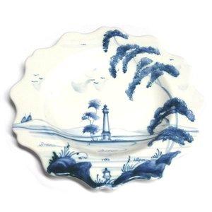 Isis Ceramics Isis Blue Palladian - Minaret Monument - Scallop Tea Plate