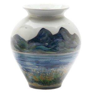 Highland Stoneware Highland Stoneware Landscape Medium Blossom Vase