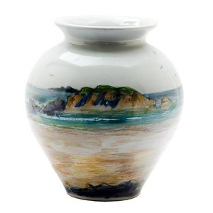 Highland Stoneware Highland Stoneware Seascape Medium Blossom Vase