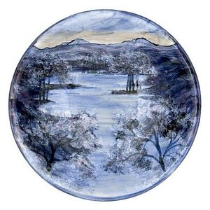 Highland Stoneware Highland Stoneware Frosty Morning Large Flared Bowl