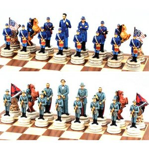 Fame Themed Chess Pieces - Civil War