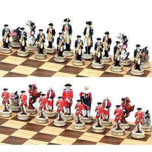 Fame Themed Chess Pieces - Revolutionary War